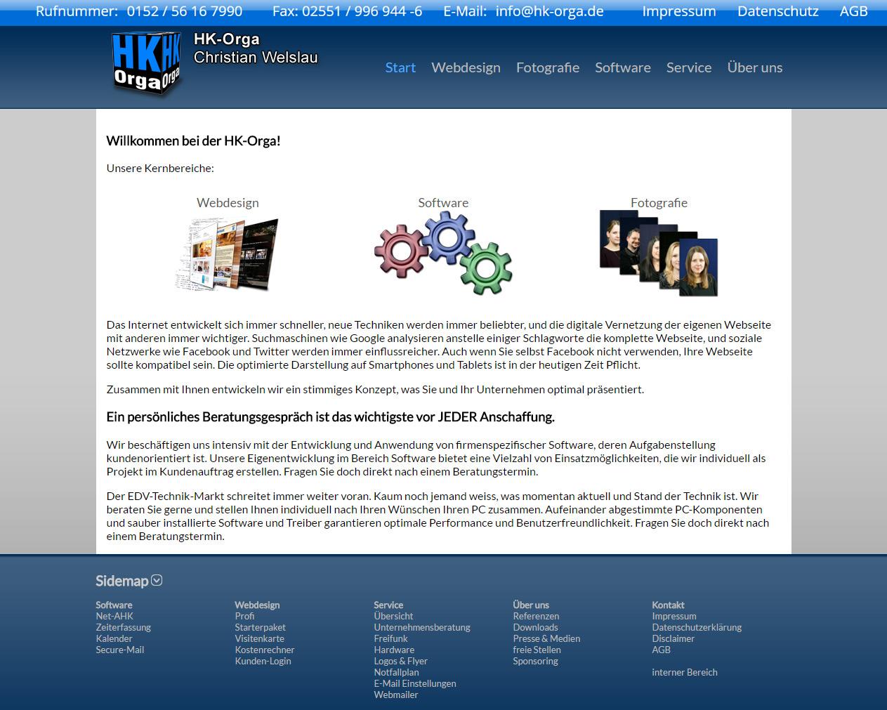 Screenshot HK-Orga.de